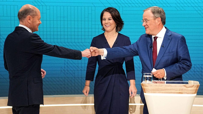 Foto: Los candidatos alemanes, de izquierda a derecha: el socialdemócrata Olaf Scholz, la verde Annalena Baerbock y el democristiano Armin Laschet. (Reuters)