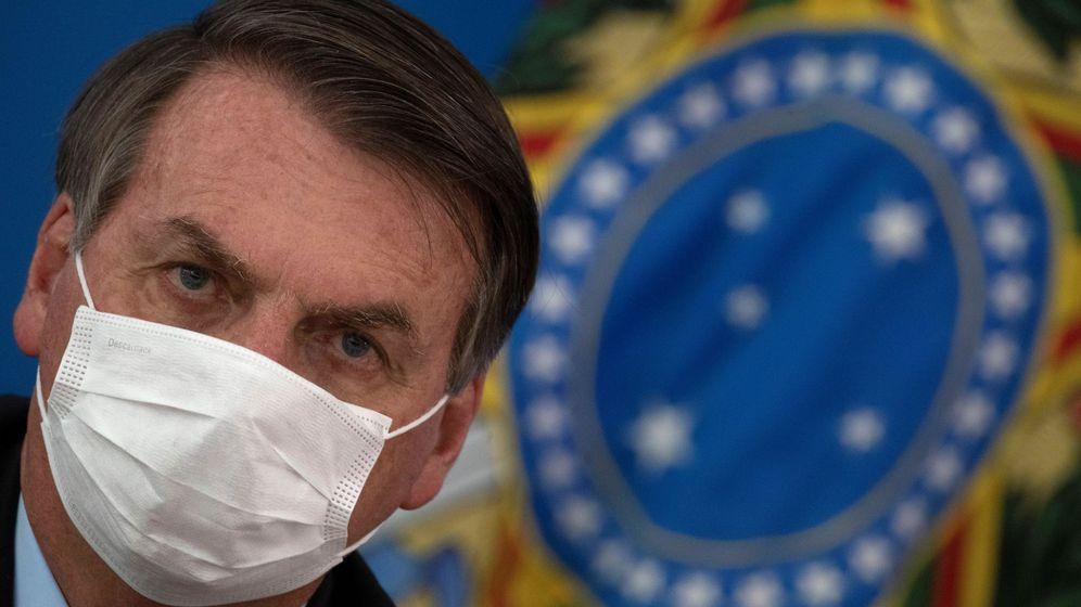 Foto: Jair Bolsonaro durante una rueda de prensa (EFE)