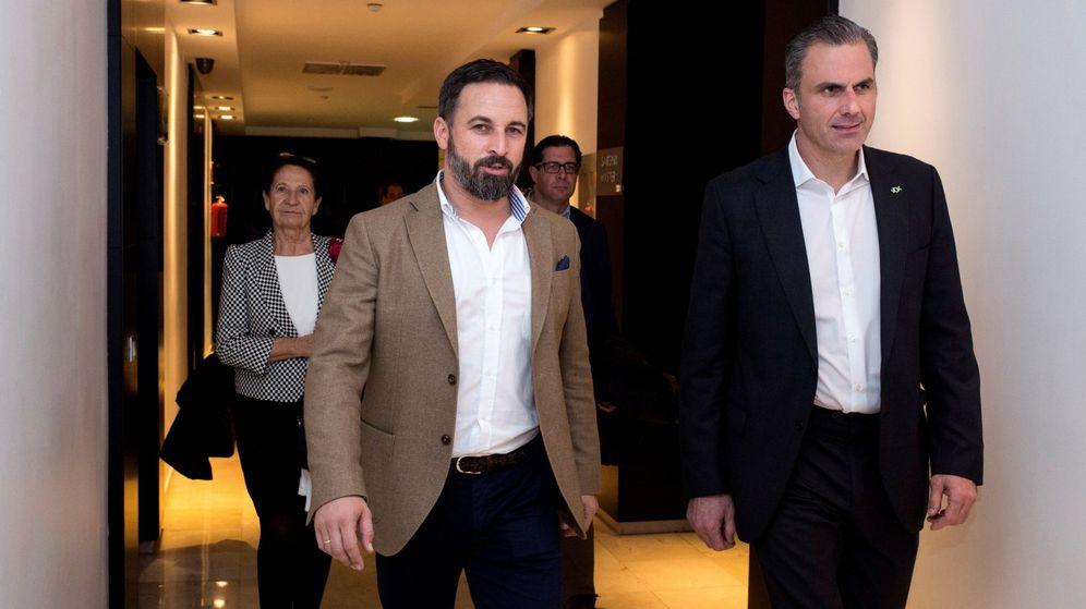Foto: Santiago Abascal Y Javier Ortega Smith. (EFE)