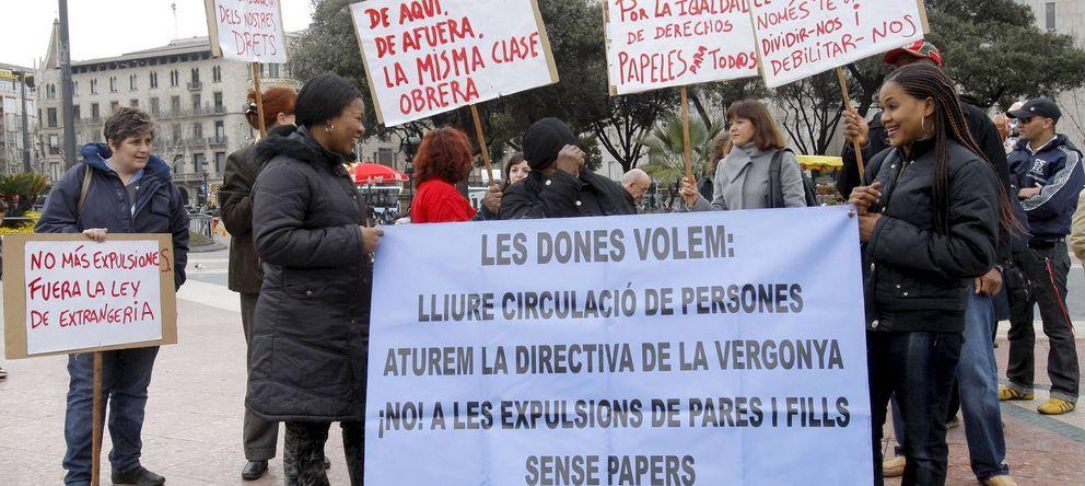 Foto: Imagen de archivo de una protesta que reivindicó los derechos de los inmigrantes en Cataluña. (Efe)