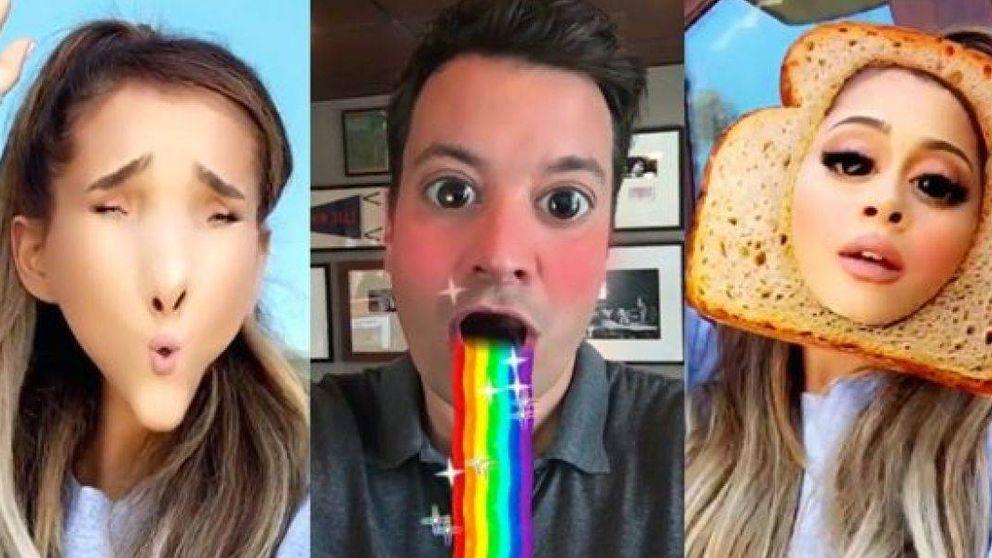 Ariana Grande y Jimmy Fallon triunfan en las redes haciendo el 'payaso' en Snapchat