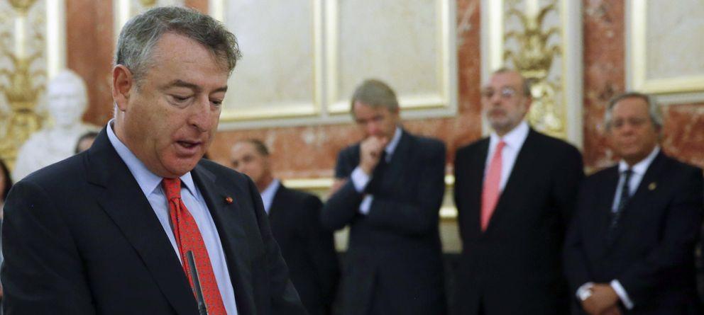 Foto: José Antonio Sánchez, durante su toma posesión como nuevo presidente de RTVE (EFE)