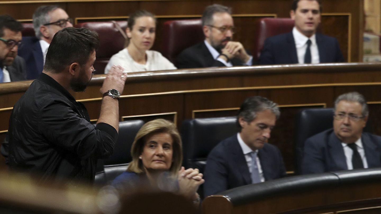 El portavoz de ERC en el Congreso, Gabriel Rufián. (EFE)