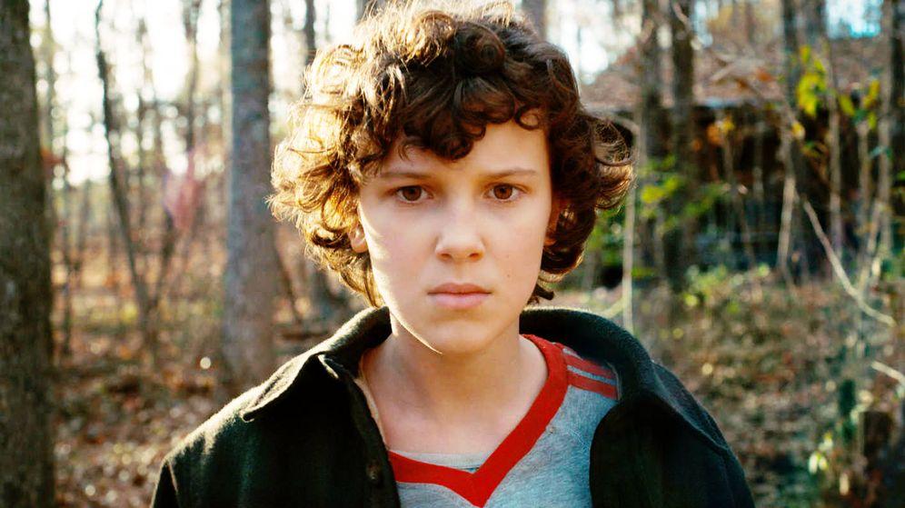 Foto: 'Eleven' en una imagen de 'Stranger Things'