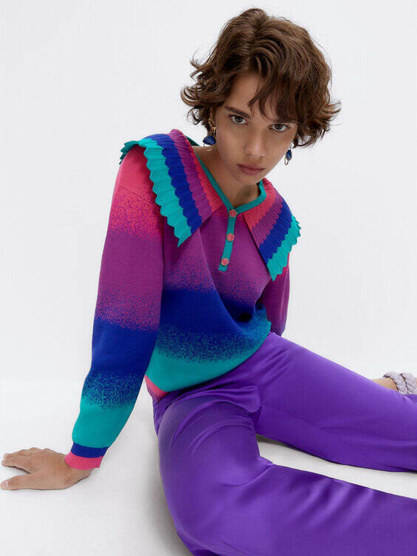Jersey colorido de Uterqüe. (Cortesía)