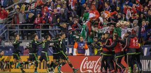 Post de  Fiestón en México por el fin del gafe del 'dos-a-cero' en el derbi del muro