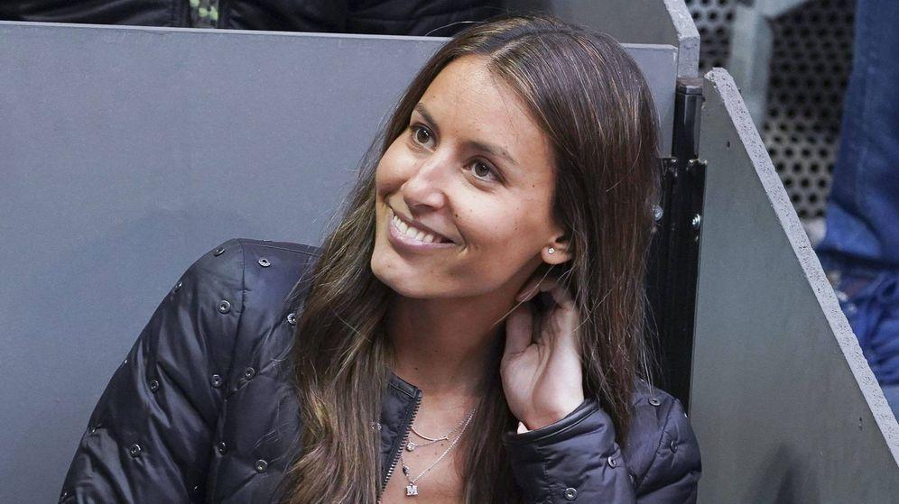Foto: Ana Boyer, presumiendo de pelazo en el Mutua Madrid Open. (Getty)
