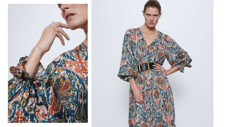 Vestido largo de Zara. (Cortesía)