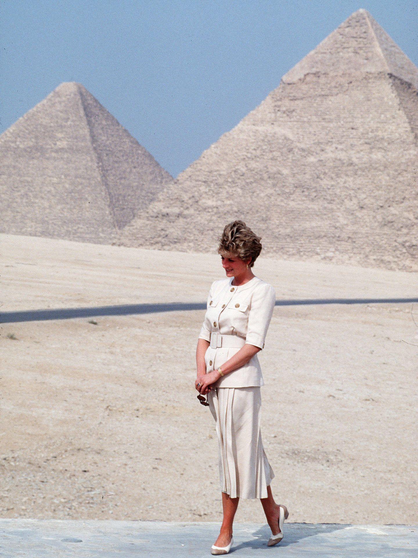 Lady Di, durante su viaje a Egipto. (Gtres)