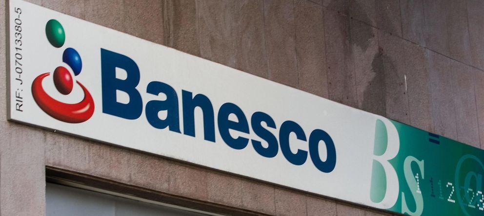 Foto: Detalle del logotipo de Banesco en una de las sucursales (Efe)