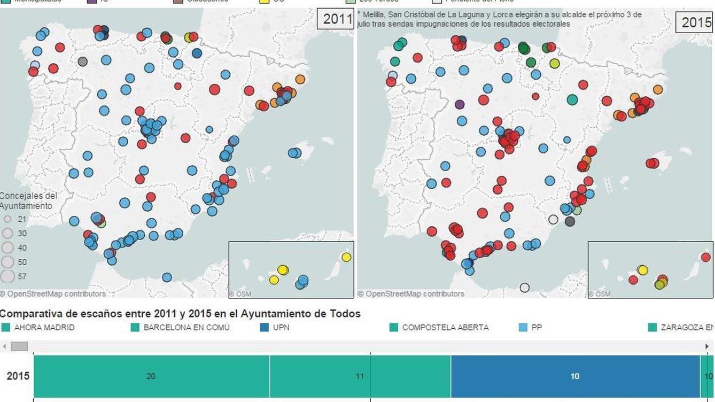 Busca a tu alcalde: así se componen los principales ayuntamientos de España