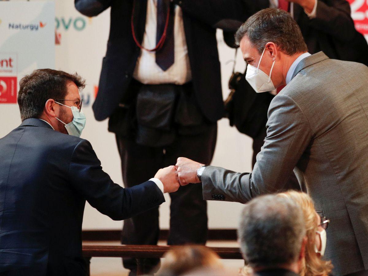 Foto: Pere Aragonès y Pedro Sánchez. (Reuters)