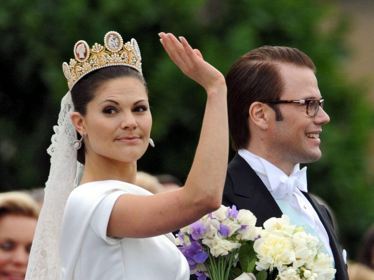 Foto: Victoria de Suecia, el día de su boda. (EFE)