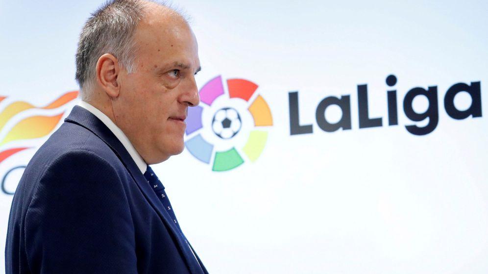 Foto: Javier Tebas, presidente de LaLiga desde 2013. (EFE)