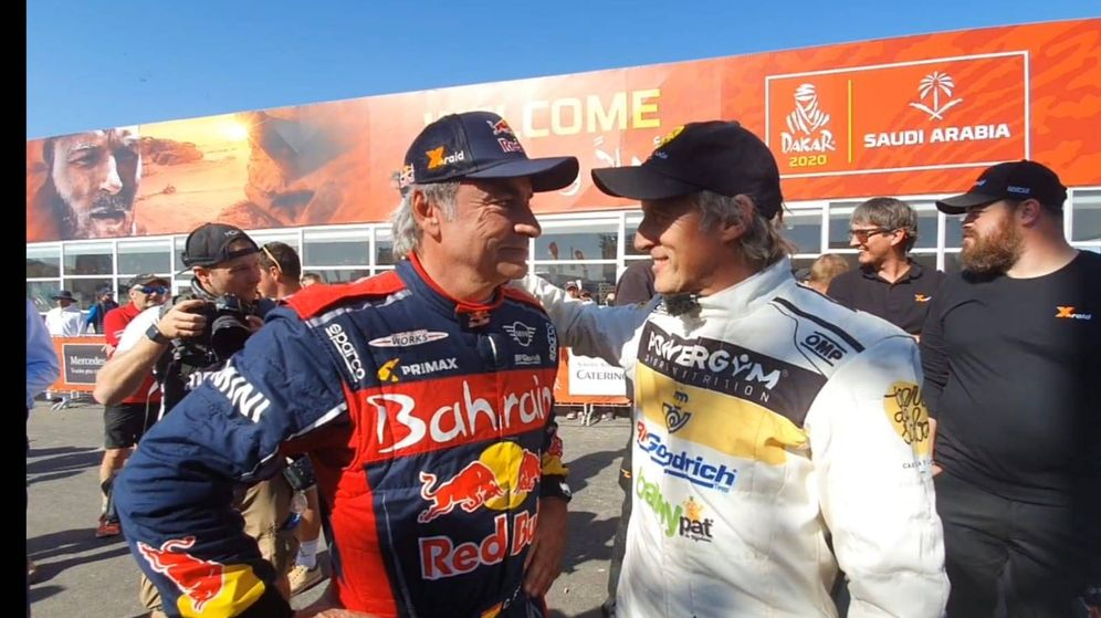 Foto: Para Jesús Calleja, uno de los alicientes de este Dakar ha sido vivir la experiencia junto a Carlos Sainz y Fernando Alonso.