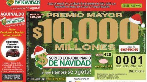 Foto: Un sorteo nocturno y un décimo a 6 euros: así es la Lotería de Navidad en Colombia
