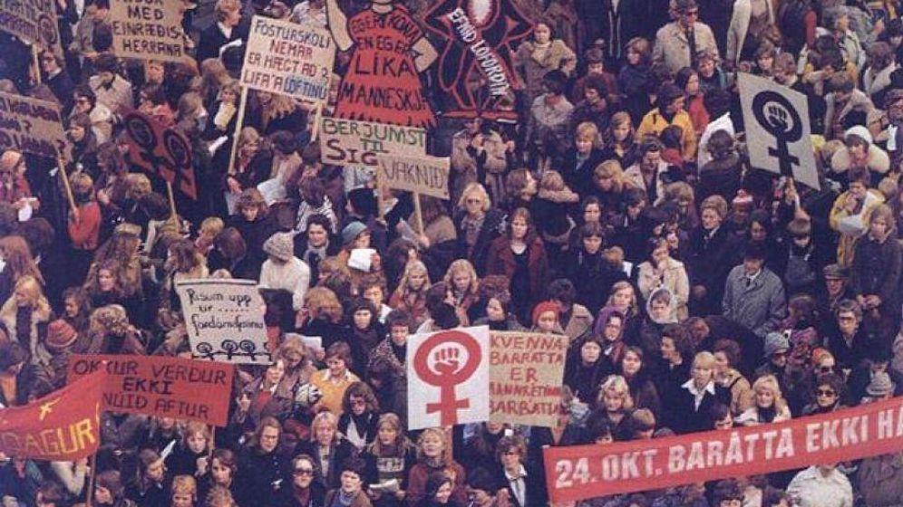 Foto: La huelga de mujeres de Islandia en 1975 es una de las más famosas, pero no la única.