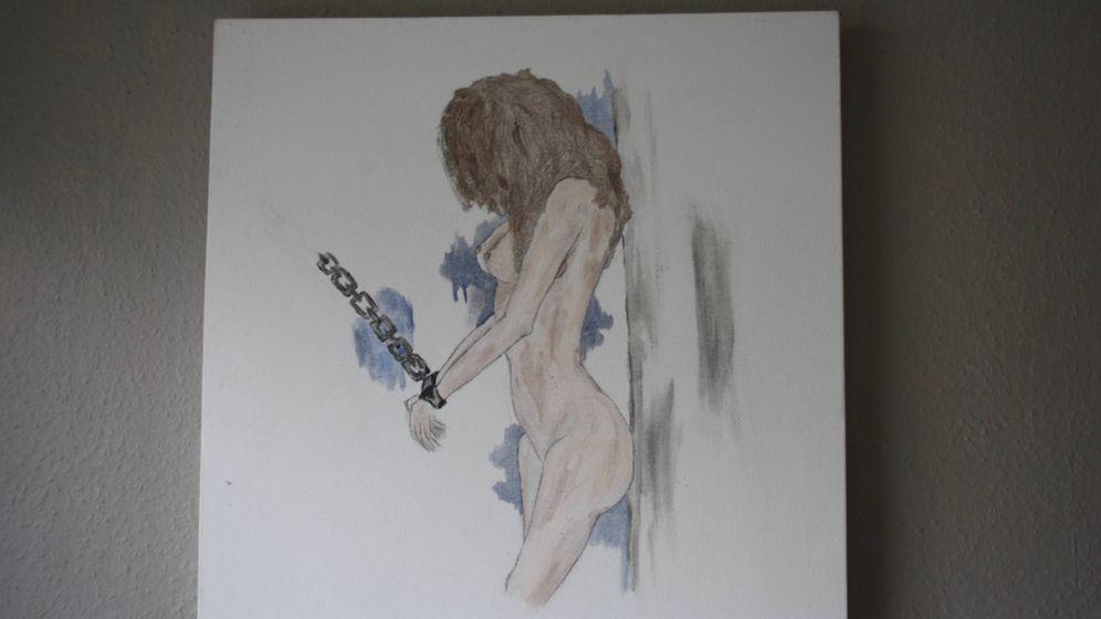 Foto: Dibujo realizado por Alexandra, víctima de la explotación sexual.
