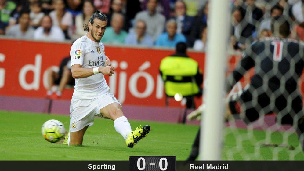 Foto: Para empezar, el Madrid de Benítez se tropieza corriendo ante el Sporting