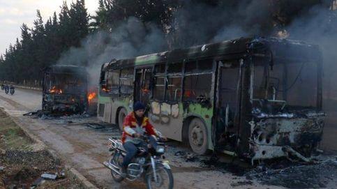 Interrumpida la evacuación de civiles de Alepo por la quema de autobuses