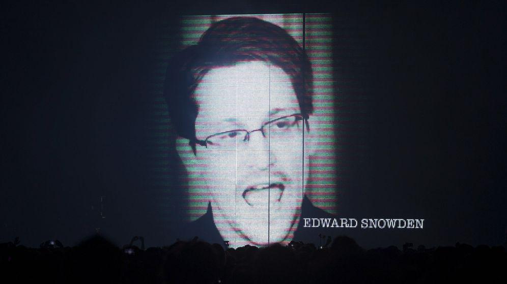 Foto: Snowden en el Sónar de Barcelona. (EFE)