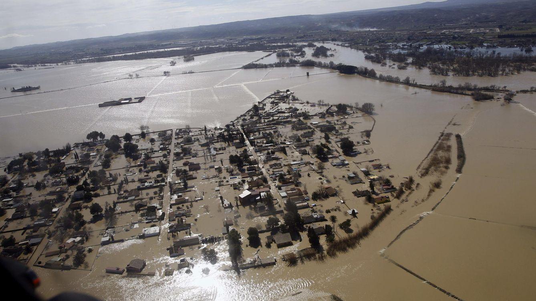 Foto: Las imágenes de las inundaciones del Ebro en Aragón y Navarra