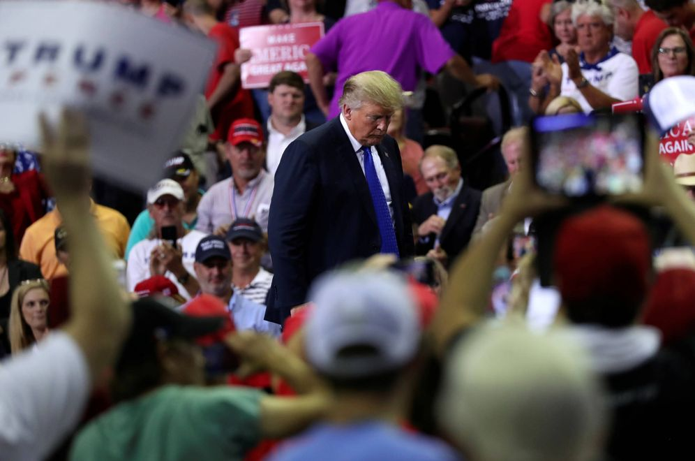 Foto: El presidente Donald Trump durante un mitin del rally Make America Great Again, en Southaven. (Reuters)