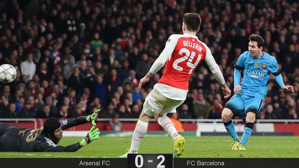 El Barça dice 33 y Messi canta dos goles ante Cech para sentenciar al Arsenal