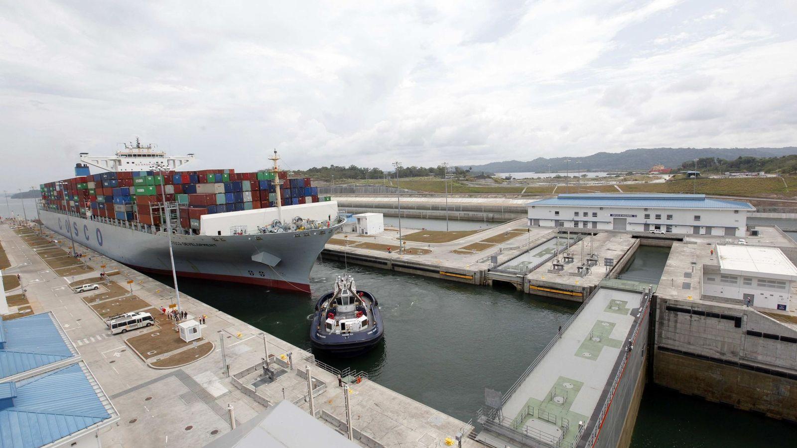 Foto: La esclusa de Agua Clara, en la vertiente del Atlántico de la ampliación del Canal de Panamá. (EFE)