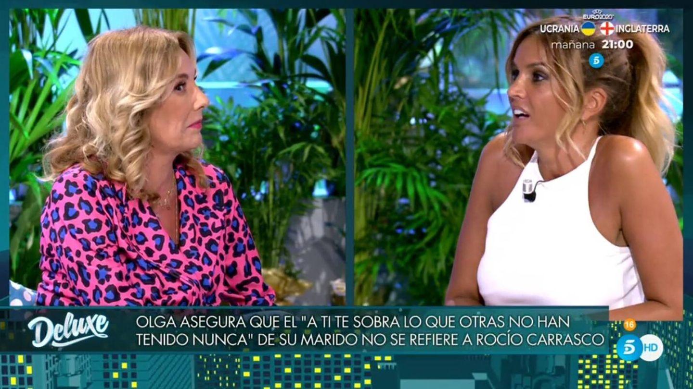 Belén Ro discutiendo con Marta López. (Telecinco).