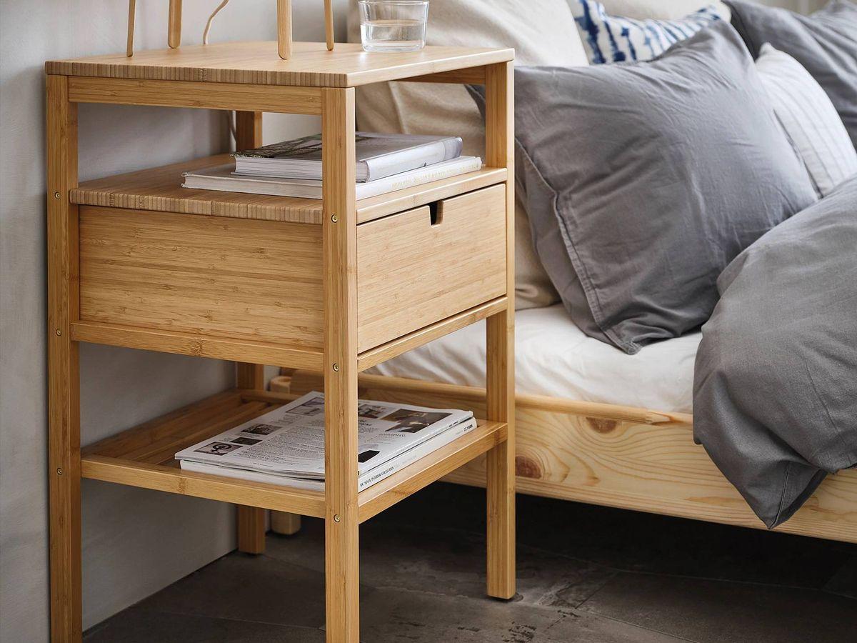 Foto: Mesitas de noche de Ikea para un dormitorio ordenado. (Cortesía)