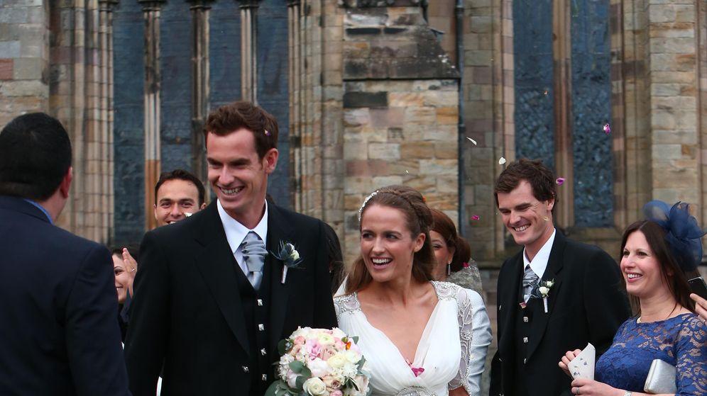 Foto: Andy Murray y Kim Sears: una boda escocesa por todo lo alto