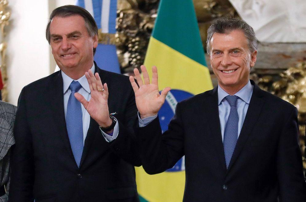 Foto: Mauricio Macri, presidente de Argentina, y Jair Bolsonaro, su homólogo brasileño. (EFE)
