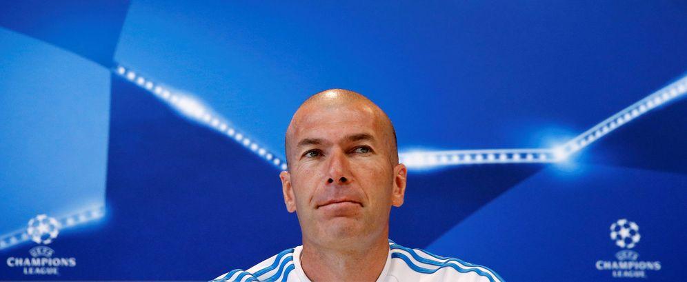 Foto: Zidane, durante la rueda de prensa (REUTERS Andrea Comas).