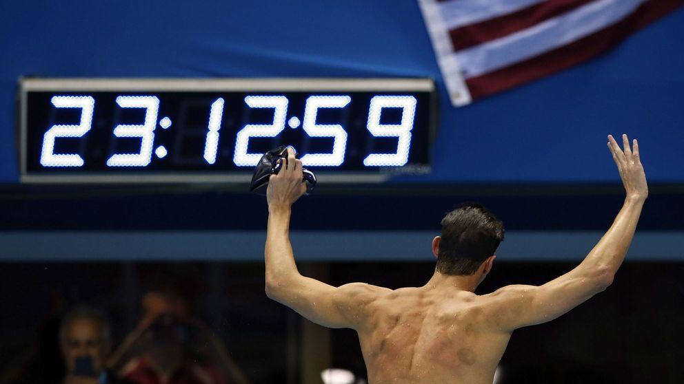 Phelps iguala a Lewis y a Oerter con cuatro oros consecutivos en una prueba