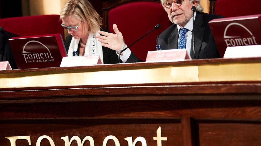 Foto: Josep Sánchez Llibre, junto a Virginia Guinda. (EFE)