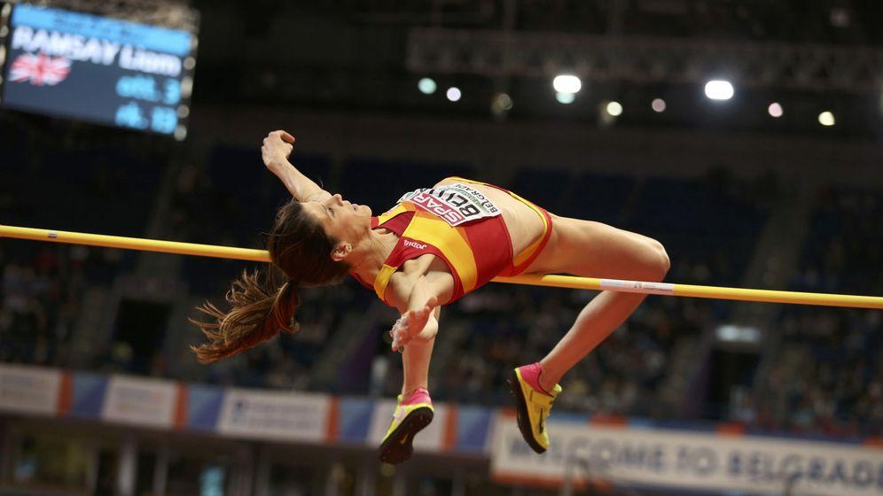 Foto: Ruth Beitia, en el campeonato de Europa (Reuters)