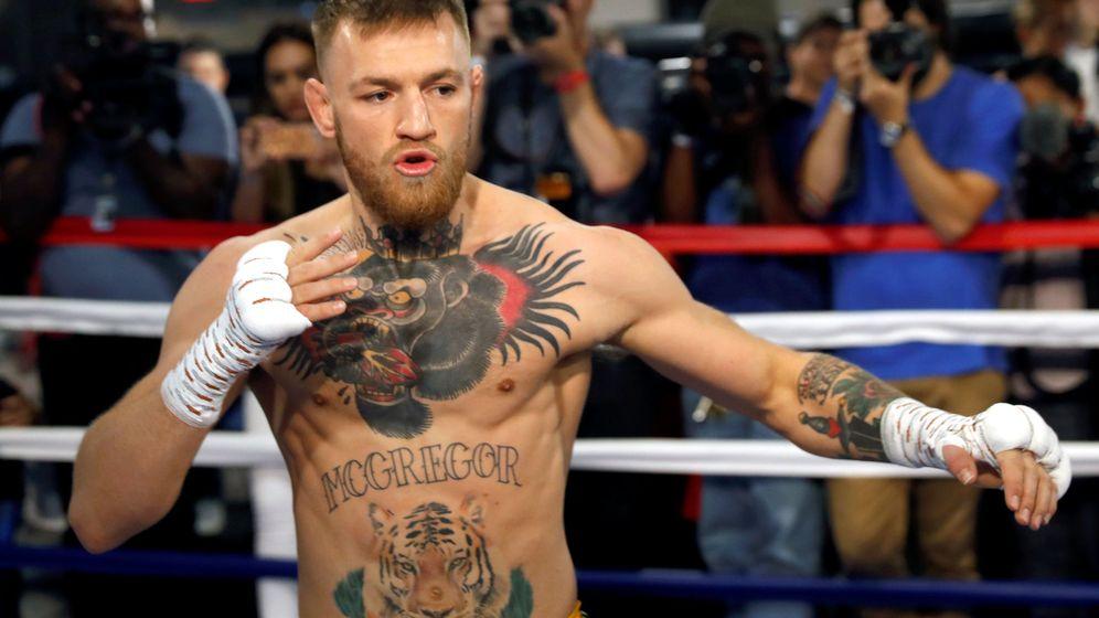 Foto: Conor McGregor este viernes en Las Vegas, donde prepara su combate contra Mayweather. (Reuters)