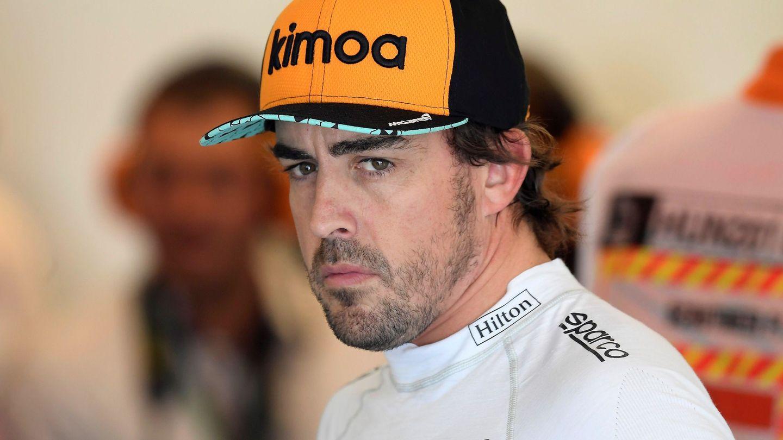 Alonso y su gorra. (EFE)
