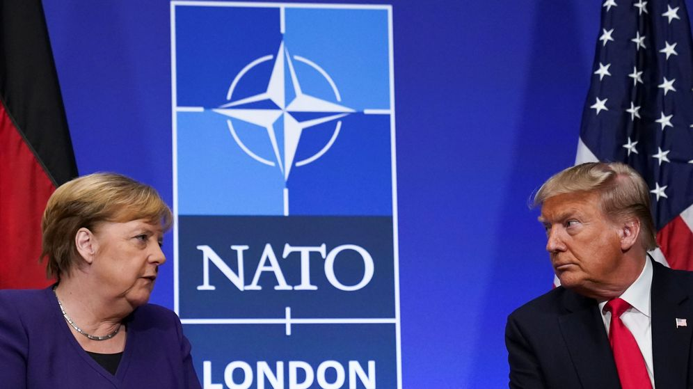 Foto: La canciller de Alemania, Angela Merkel, y el presidente de EEUU, Donald Trump. (Reuters)