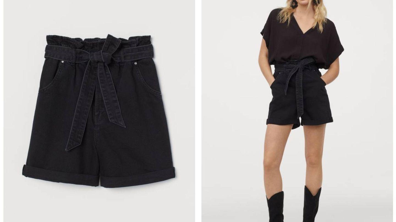 El pantalón corto de color negro. (Cortesía)