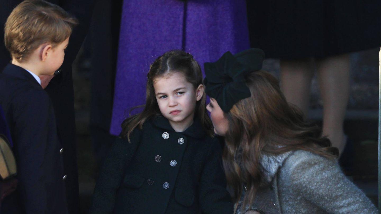 Kate Middleton y Charlotte, la pasada Navidad. (Getty)