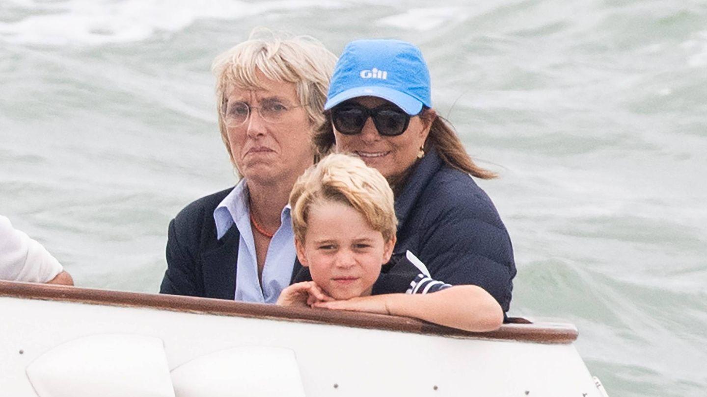 Carole Middleton, el verano pasado junto al príncipe George. (Cordon Press)