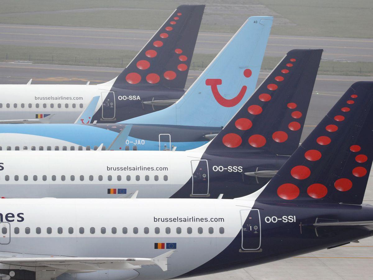 Foto: aviones de TUI (reuters)