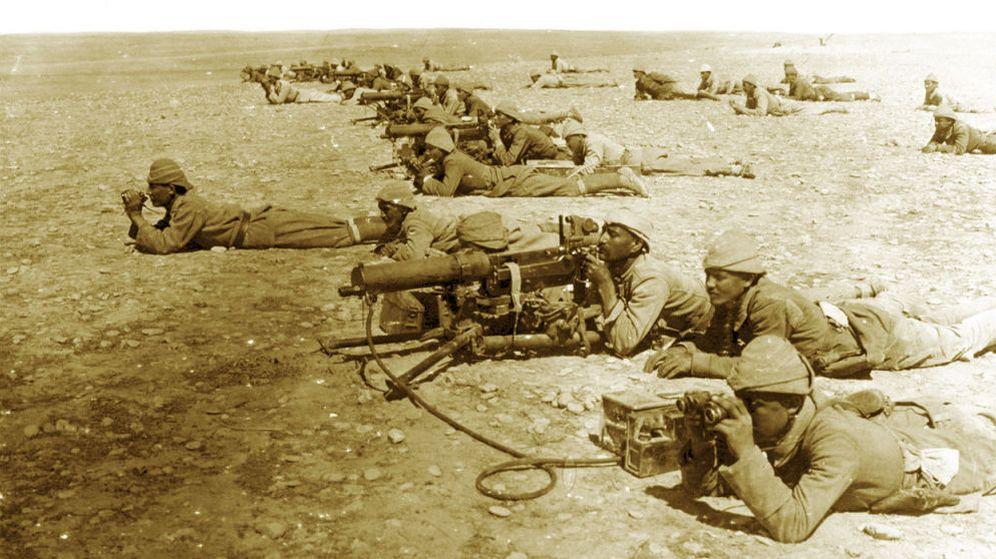 Foto:  Tropas otomanas en el frente de Gaza, en 1917. (Library of Congress)