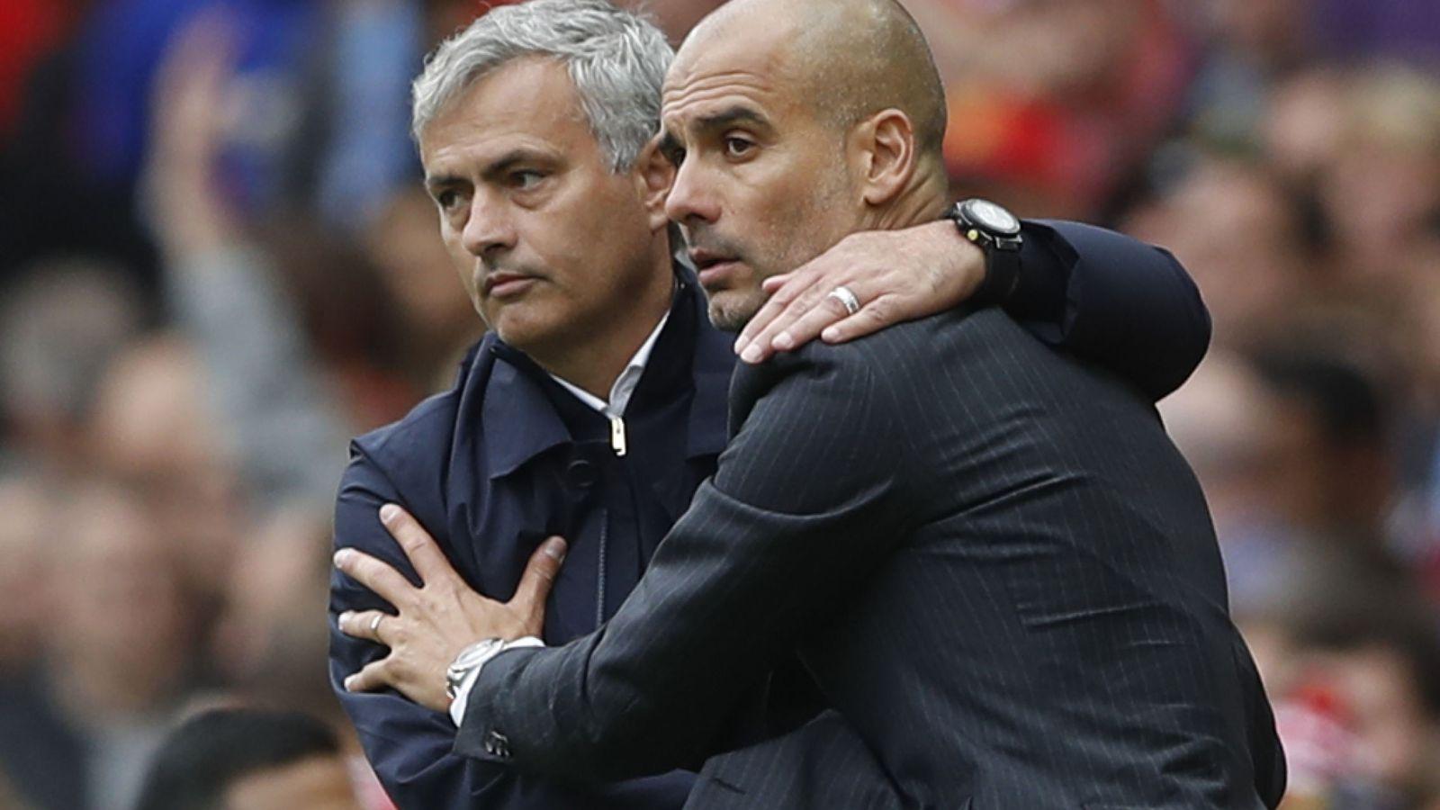 Foto: Mourinho volverá a abrazar a Guardiola (Carl Recine/Reuters).