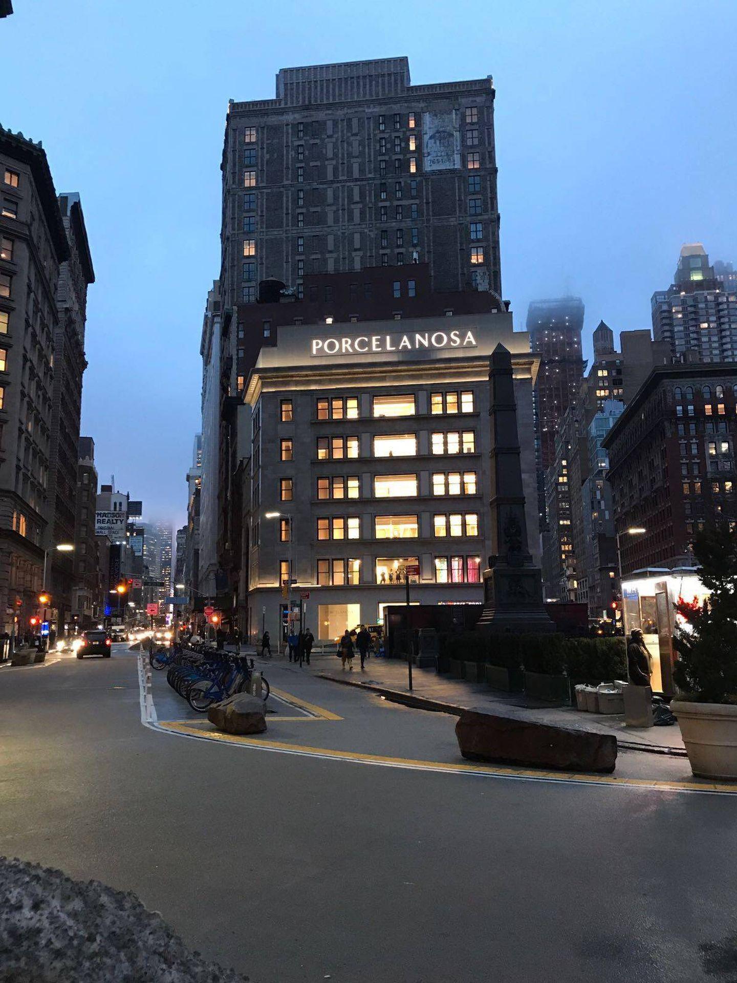 La tienda de Porcelanosa en Nueva York.