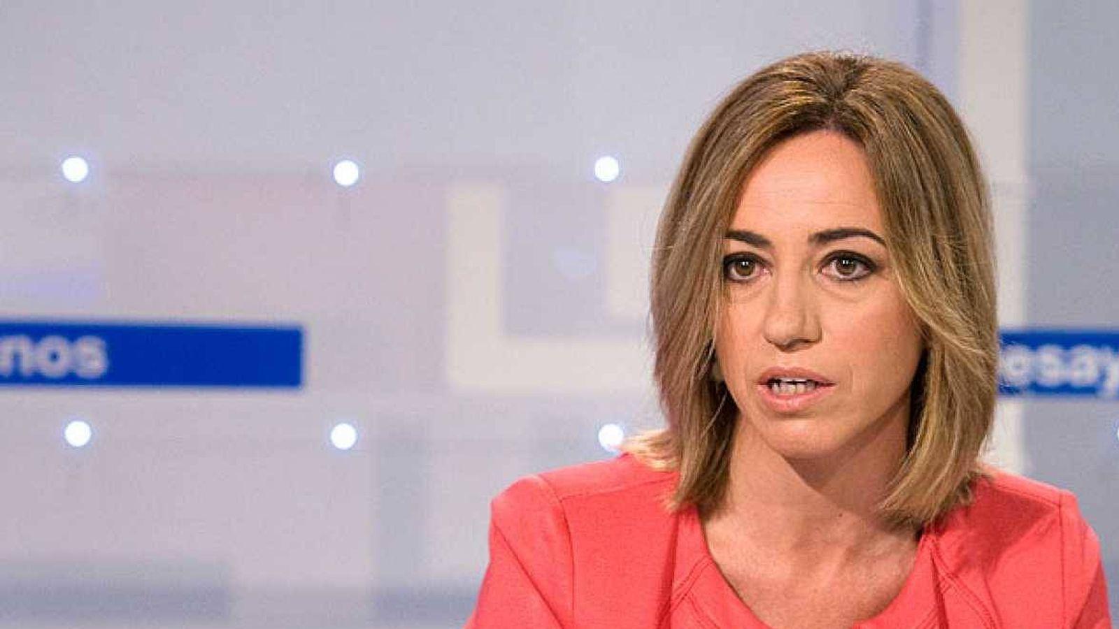 Foto: Carme Chacón en una entrevista en 'Los desayunos de TVE'.