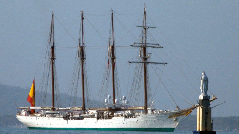 Foto: El buque español Juan Sebastián Elcano. (EFE)