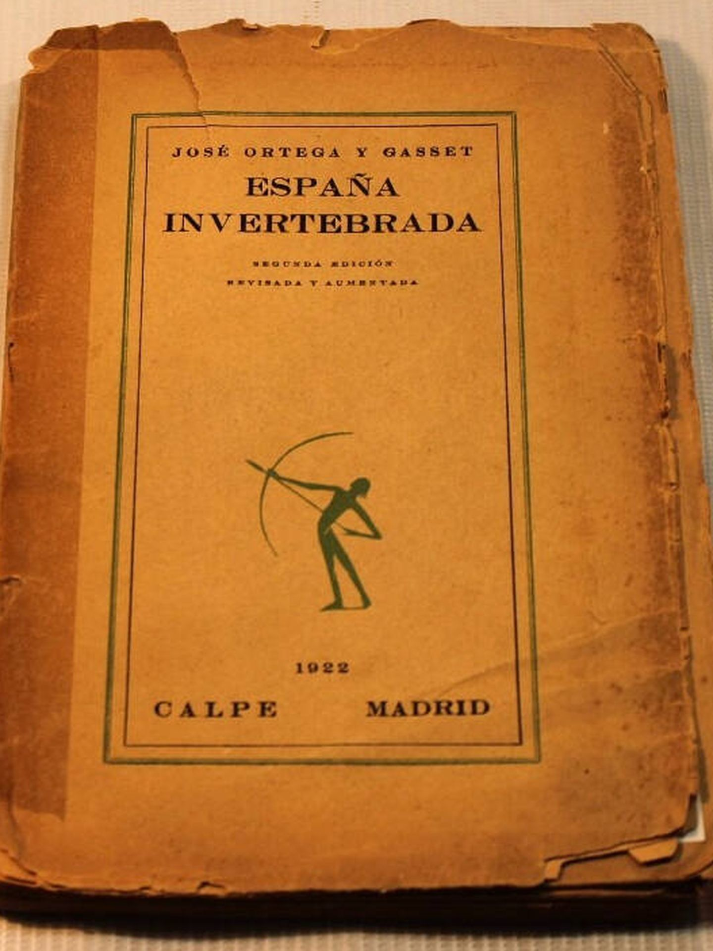 Una de las primeras ediciones de 'España invertebrada'.